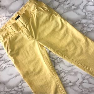 J. Crew Yellow Favorite Fit Cotton Pants
